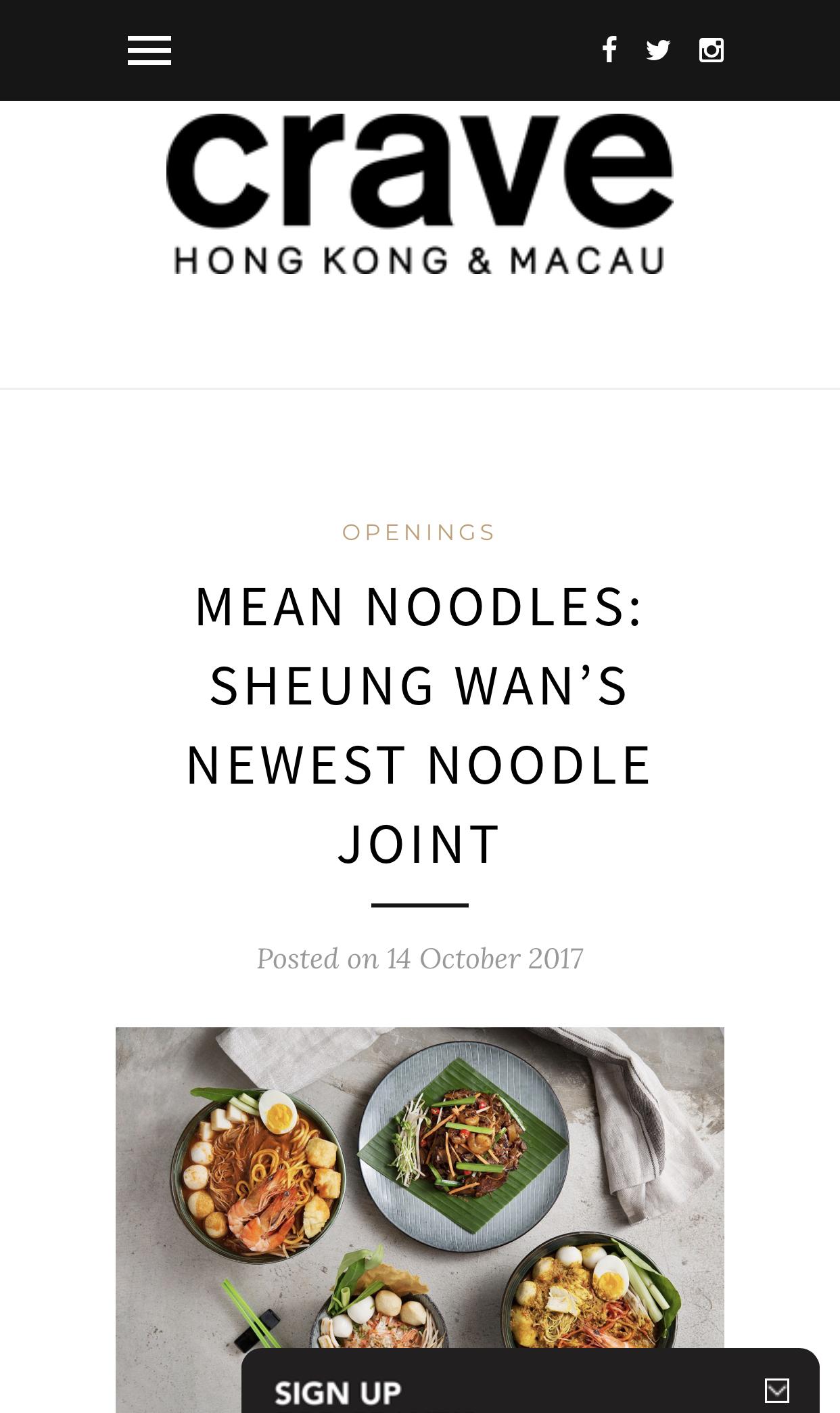 Mean Noodles on Crave